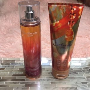Cashmere Glow Body Mist and Lotion